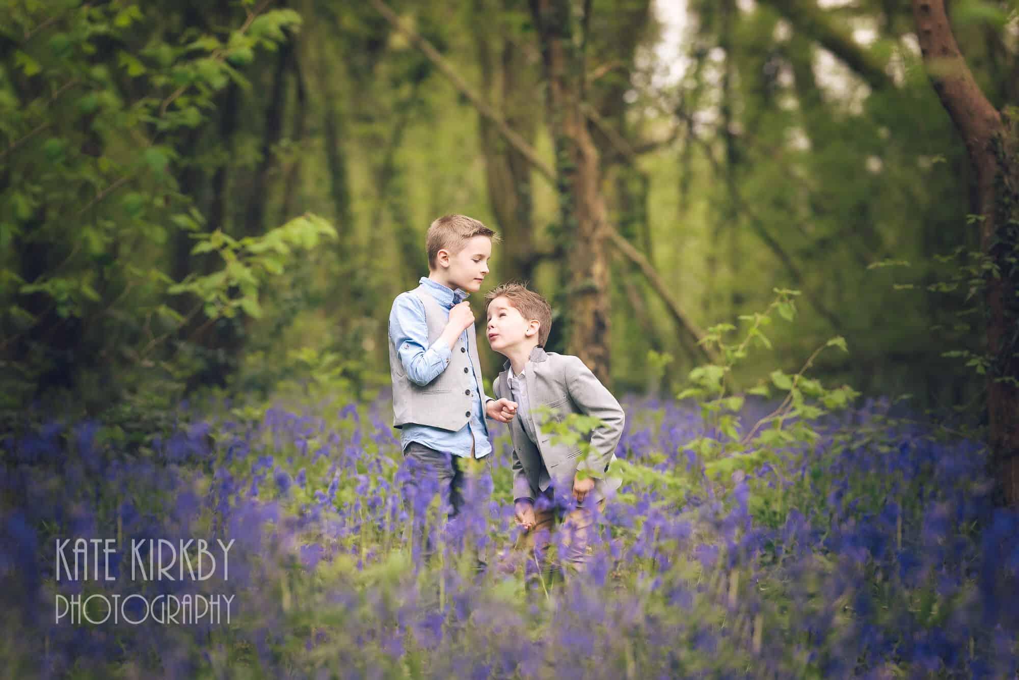 Boys in bluebells